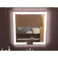 Зеркало с подсветкой лентой для ванной комнаты Новара 100x100 см