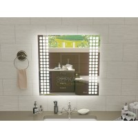Квадратное зеркало с подсветкой для ванной Терамо 70x70 см