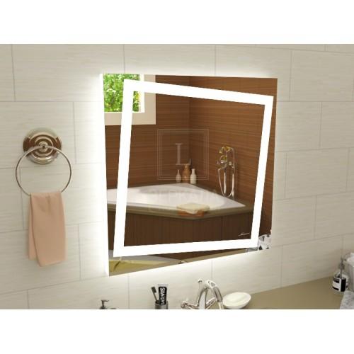 Зеркало с подсветкой в ванну Торино 40x40 см