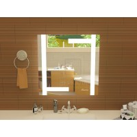 Квадратное зеркало в ванную с подсветкой Витербо размером 900x900 мм