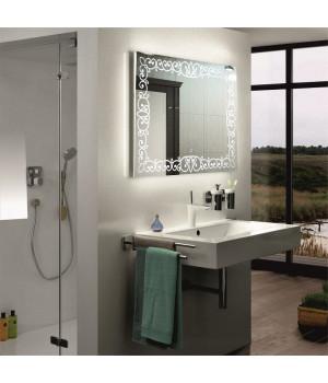 Зеркало в ванную со светодиодной подсветкой Каролина 40x40 см