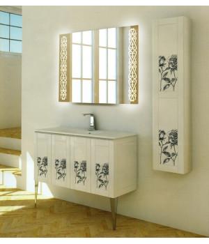 Зеркало в ванную комнату с подсветкой светодиодной лентой Кеннеди
