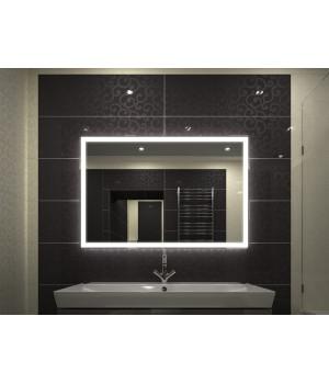 Зеркало в ванную комнату с подсветкой светодиодной лентой Валентин